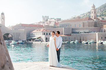 Wedding walk in Dubrovnik